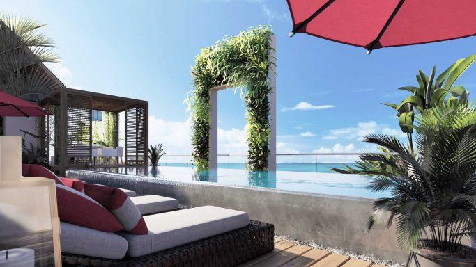 Imperial Resort Hurghada infinity roof top pool area