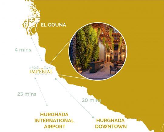 Imperial Resort Hurghada location map